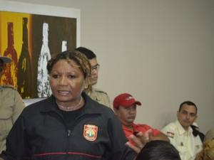 Maria Solidade Pinheiro, guarda municipal (Foto: Dyepeson Martins/G1)