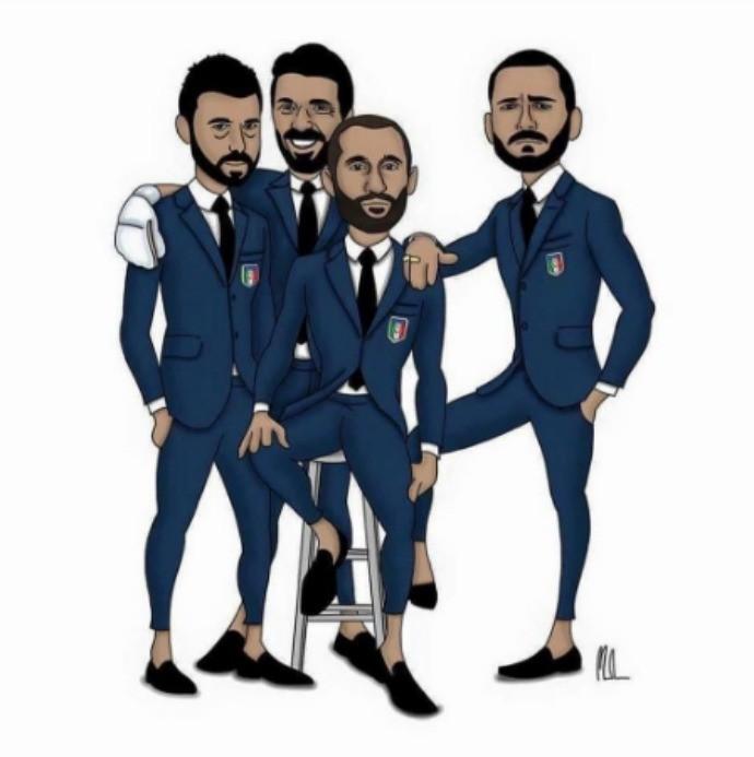 """BLOG: Bonucci inova e """"anuncia"""" o quarteto BBBC da seleção italiana e do Juventus"""
