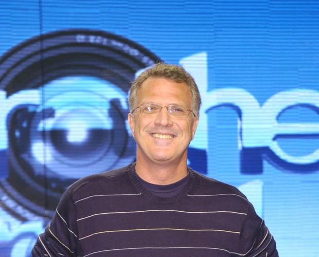 Pedro Bial no BBB 9 (Foto: Divulgação/TV Globo)