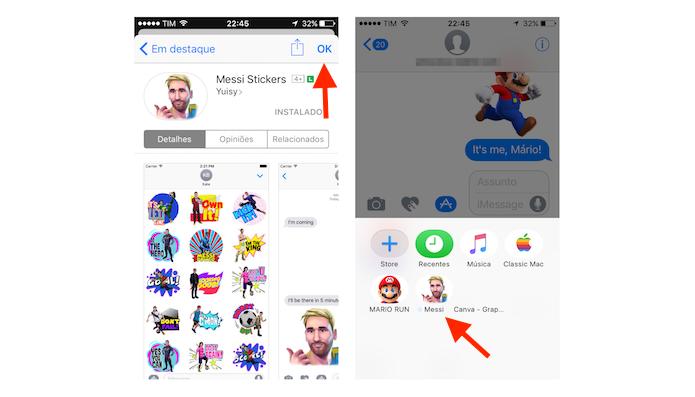 Tela de extensões baixadas para o iMessage no iPhone (Foto: Reprodução/Marvin Costa)