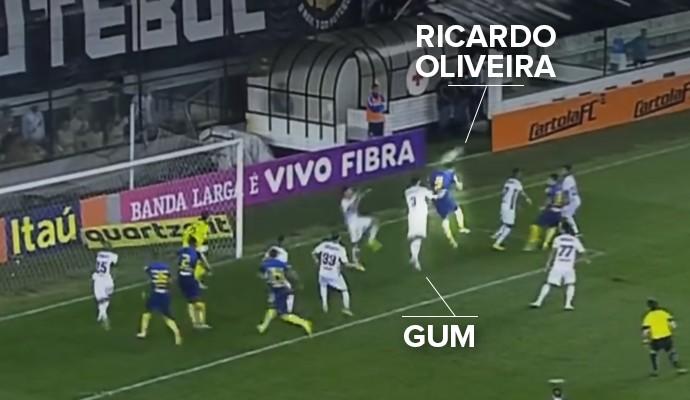 Posição Gum e Ricardo Oliveira 2 (Foto: Reprodução )