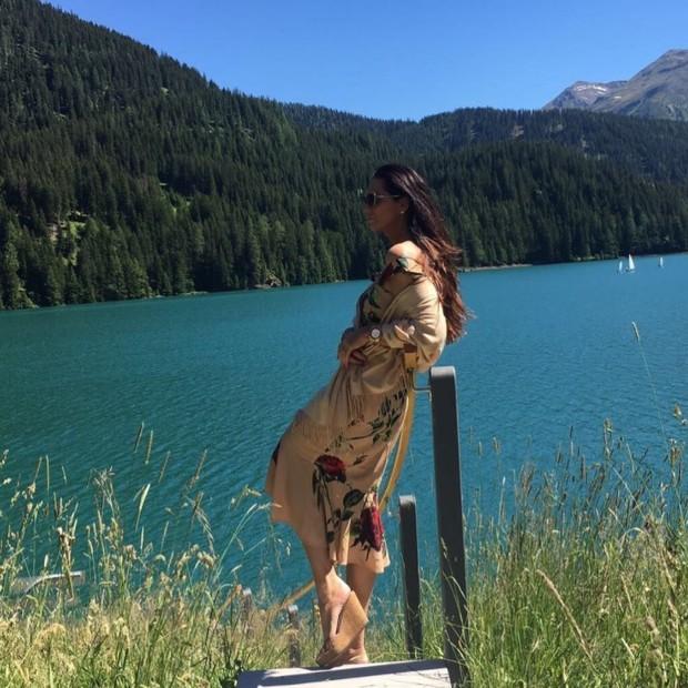 Luiza Brunet nos Alpes Suíços (Foto: Reprodução/Instagram)