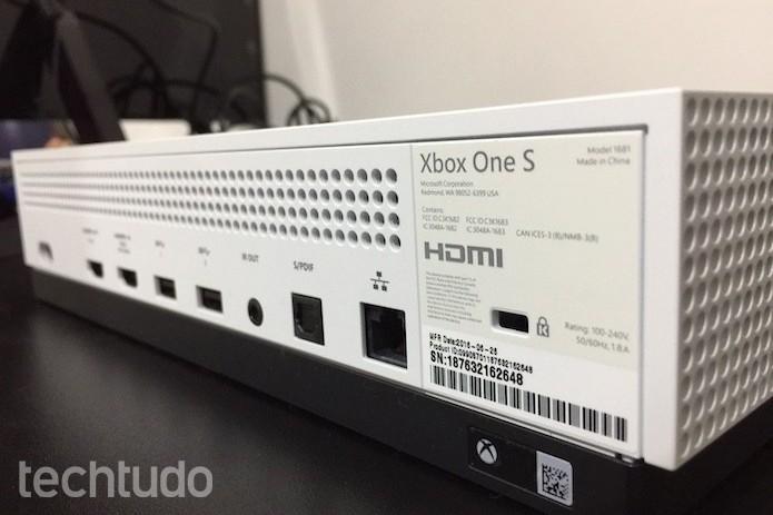 Xbox One S: suporte a conteúdo 4K é uma das novidades (Foto: Victor Teixeira/TechTudo )