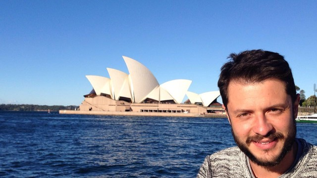 Renan Fiuza, repórter da TV Tribuna, compartilha sua viagem de férias (Foto: Arquivo Pessoal)
