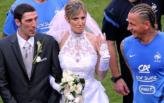 Casamento, Treino da França (Foto: Agência AFP)