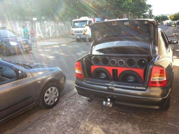 Veículo apreendido durante ação da Guarda, em Campinas (Foto: Divulgação / Guarda)