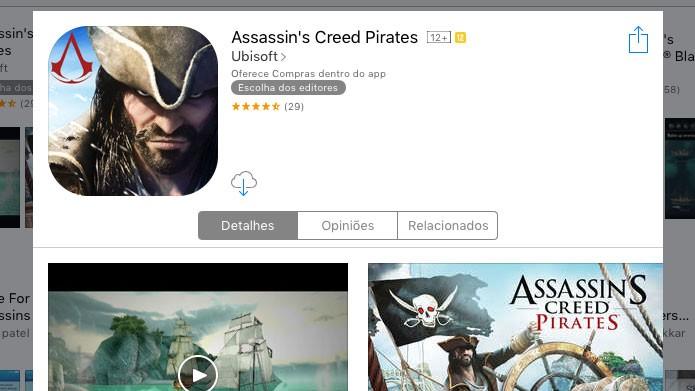 Acesse a página do TechTudo sobre Assassins Creed Pirates e faça o download (Foto: Reprodução/Tais Carvalho)