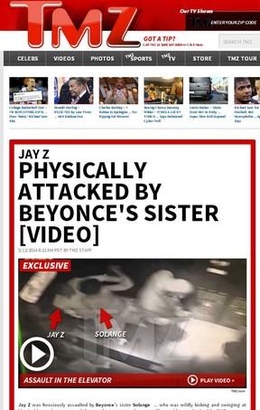 Beyoncé, Jay Z e Solange Knowles (Foto: TMZ/Reprodução)