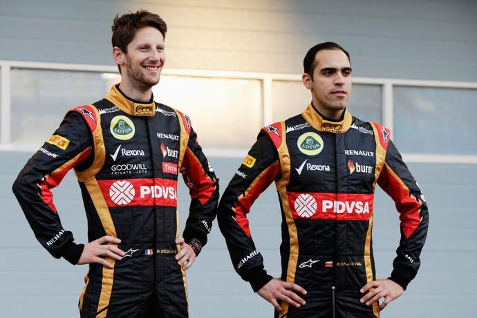 Pastor Maldonado e Romain Grosjean Lotus Testes BAhrein (Foto: Getty Images)