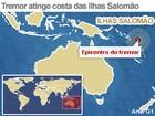 Novo forte terremoto atinge região das Ilhas Salomão 2 dias pós-tsunami