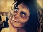 Demi Lovato se adianta e faz maquiagem de Halloween