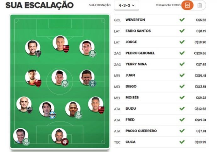 Time Caio Ribeiro Cartola (Foto: Reprodução)