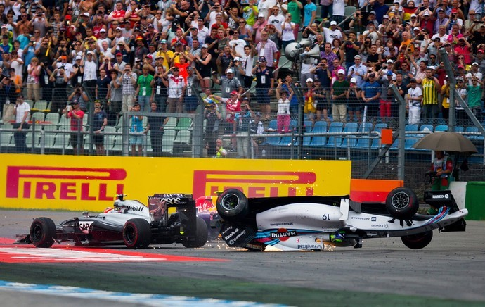 Felipe Massa Kevin Magnussen acidente GP da Alemanha