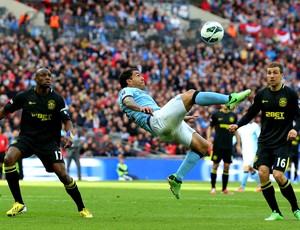tevez manchester city x wigan (Foto: Getty Images)