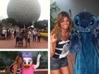 Kelly Key exibe pernões na Disney