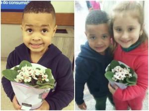 Empurrão, colega, Diogo, flores, Porto Alegre, escola, Isabelle (Foto: Reprodução/Facebook)