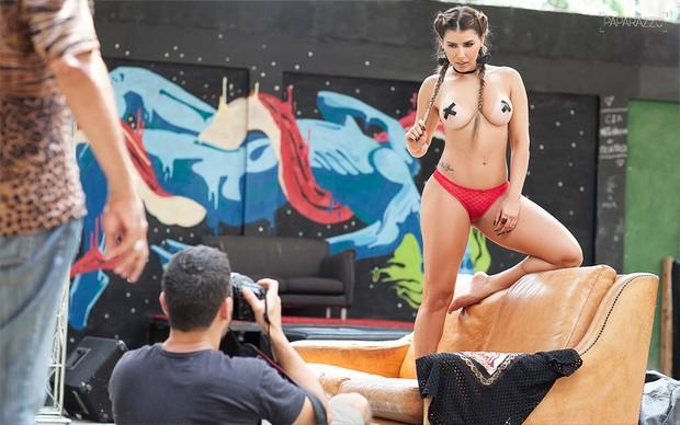 Making of Thais Bianca para o Paparazzo (Foto: Anderson Barros / Paparazzo)