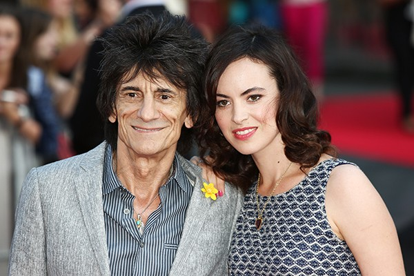 Ronnie Wood e Sally Humphreys (Foto: Getty Images)