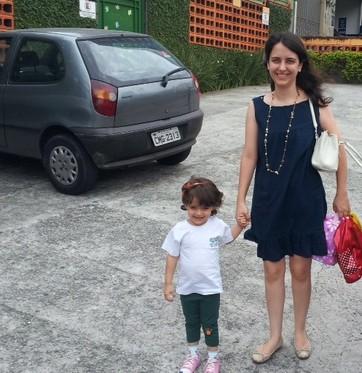 Nívea com a filha Catarina  (Foto: Arquivo pessoal)