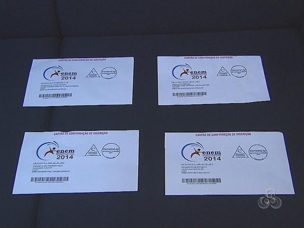 Cartão Enem (Foto: Reprodução TV Acre)
