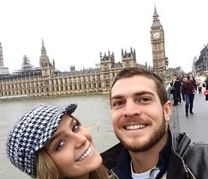 O namorado Lucas Wakim é o companheiro de viagem da atriz neste fim de ano (Foto: Arquivo pessoal)