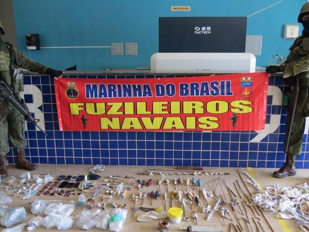 Ao todo, foram apreendidos 452 itens (Foto: Divulgação/Marinha do Brasil)