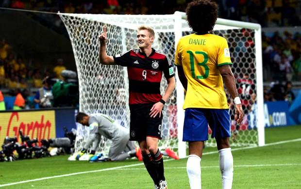 Andre Schuerrle comemoração jogo Brasil x Alemanha (Foto: André Durão / Globoesporte.com)