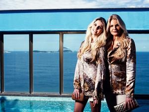 Monique e Bárbara Evans posam para o EGO (Foto: Marcos Serra Lima / EGO)