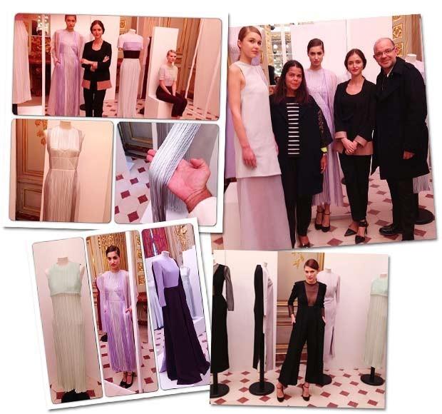O registro da apresentação da nova coleção da estilista, prestigiada pelo time da Vogue Brasil em março (Foto: Reprodução/Instagram)
