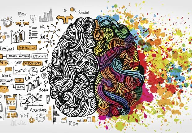 Dois lados do cérebro (Foto: Thinkstock)