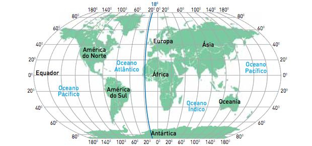 Mapa com meridiano da Ilha  (Foto: Reprodução/UERJ)