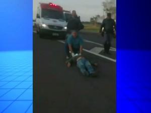 Vídeo mostra o socorro dos feridos no acidente  (Foto: Fábio Pierin/ Arquivo pessoal )