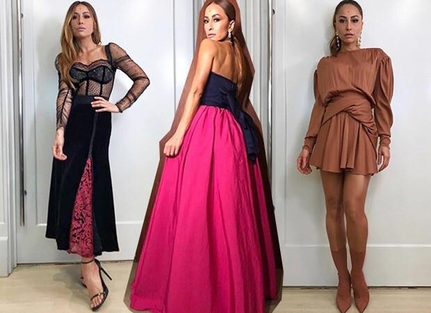 A lingerie é o destaque no look da Maison Alexandrine, enquanto o saia ampla a aposta do modelo de Carolina Herrera. Nude e botas, num visual todo Balenciaga, também estiveram entre as surpresas (Foto: Reprodução)