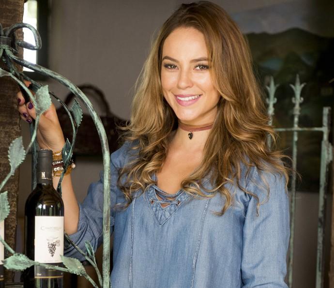 Paolla Oliveira comemora a trajetória de Melissa (Foto: João Miguel Júnior/TV Globo)