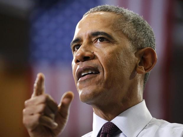 Barack Obama defende manifestante pró-Trump em comício nos EUA (Foto: REUTERS/Jonathan Ernst)