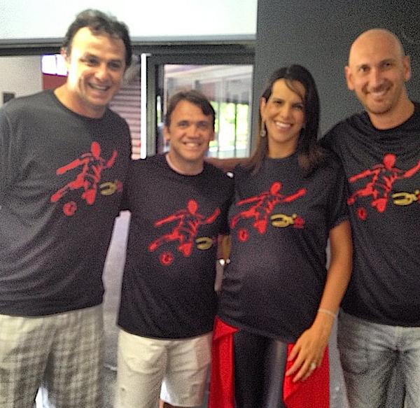Carlão, Pet, Virna e Nalbert em homenagem a Zico 60 anos (Foto: Reprodução Instagram)