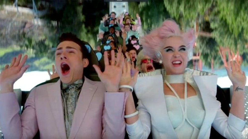 Katy Perry no clipe de