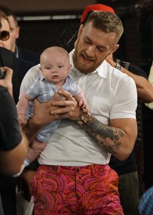 Conor McGregor; treino aberto; May-Mac; filho Conor; Conor baby (Foto: Evelyn Rodrigues)