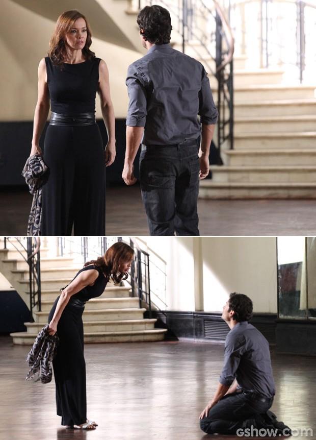 Reencontro entre Laerte e Helena é repleto de emoções (Foto: Carol Caminha/TV Globo)