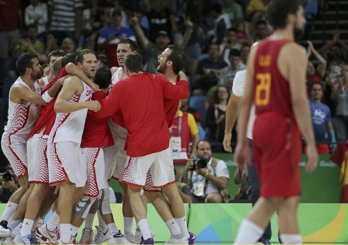 Croácia vence Espanha no basquete (Foto: Jim Young/Reuters)