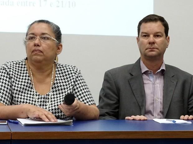 Presidente do Ibama, Suely Belizário, e superintendente do instituto em Belo Horizonte, Marcelo Belizário Campos (Foto: Pedro Ângelo/G1)