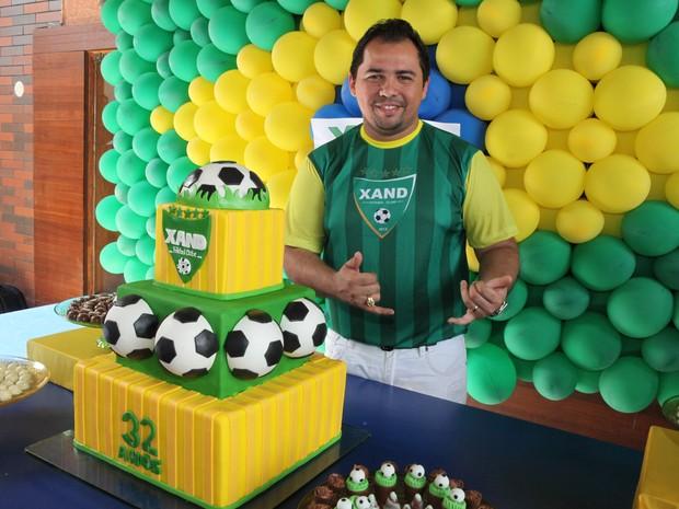 Xand, do Aviões do Forró, comemora aniversário em Fortaleza, no Ceará (Foto: Divulgação)