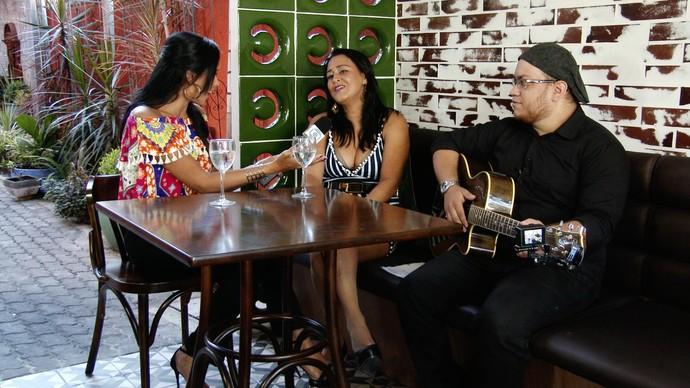 Niara Meireles entrevista Iara Pamella. (Foto: Se Liga VM)