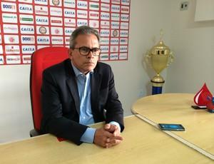 Hermano Morais, presidente do América-RN (Foto: Jocaff Souza/GloboEsporte.com)