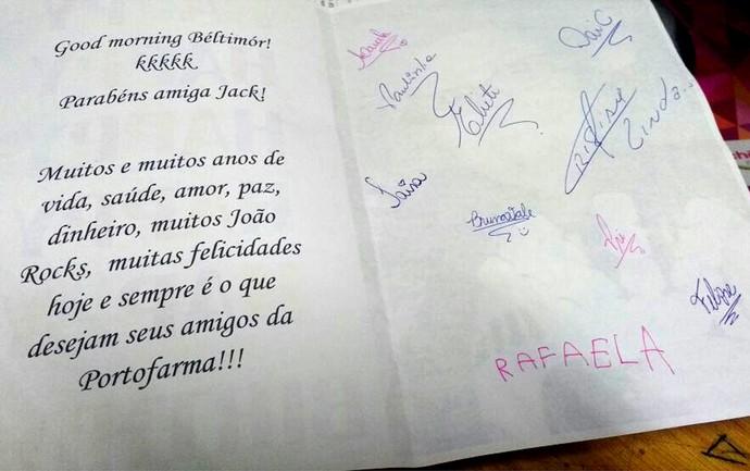 Amigos desejam muitos joão rock a Jaqueline, fã do festival João Rock (Foto: Arquivo pessoal)