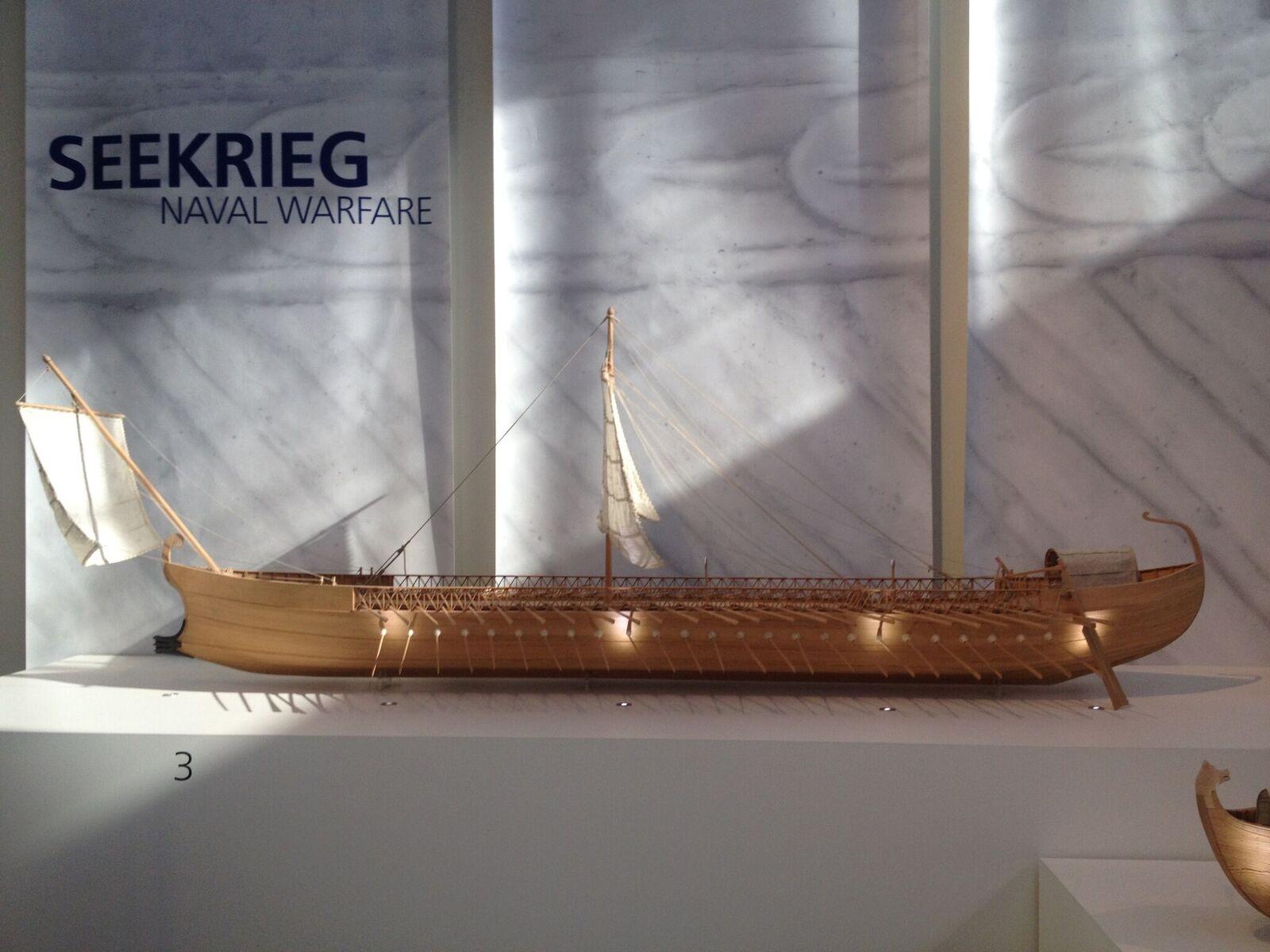 Modelo de navio romano utilizado para campanhas militares (Foto: University of Leicester)