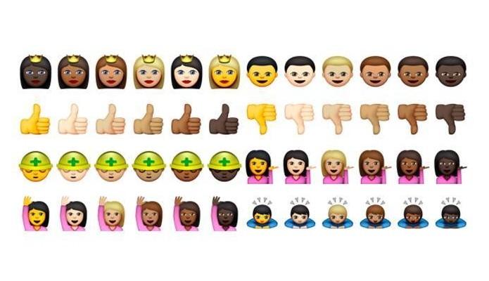 Apple incluiu diferentes tons de pele em emojis após petição (Foto: Reprodução/Apple)