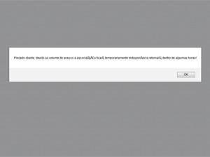 Mensagem de erro para a compra de ingressos online na manhã desta quinta (4) no site do Rock in Rio 2013 (Foto: Reprodução/Rock In Rio)