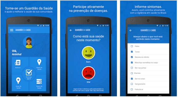 O usuário pode conferir um mapa com ocorrências próximas (Foto: Divulgação/Google Play)