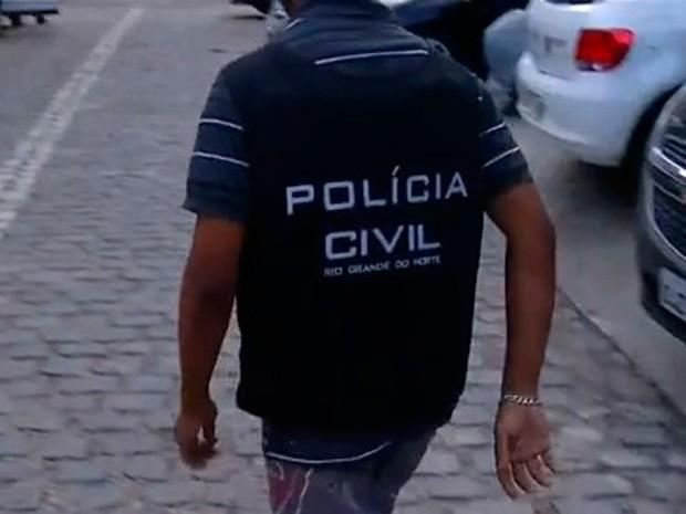 Adolescente foi ouvido como suspeito pela morte de PM em Natal (Foto: Reprodução/Inter TV Cabugi)